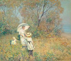 Helen McNicoll, Sunny September, 1913. Oil on canvas, 92 x 107.5 cm. Collection Pierre Lassonde. #ArtCanInstitute #CanadianArt