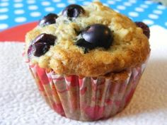 Blueberry Banana Muffins- Perfect for the little guy! Only thing I altered was I used 1/3 c. whole wheat flour and 2/3 c. unbleached, also used homemade applesauce and plain greek yogurt!