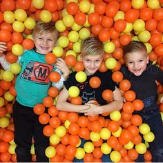 Check out these cuties having fun in the ball pit! Salons, Have Fun, Check, Kids, Food, Children, Lounges, Boys, Meal