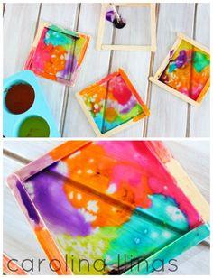 manualidades para niños vidrieras