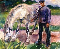 Man with Horse Edvard Munch - 1918