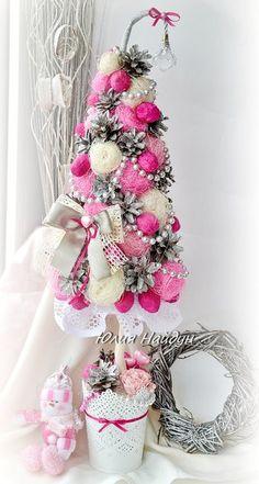 Декоративная елка ручной работы