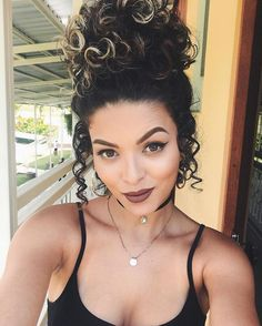 Hairstyles for girls with Chinese hair Curly Hair Styles, Curly Hair Care, Short Curly Hair, Curly Girl, Wavy Hair, Natural Hair Styles, Ponytail Hairstyles, Pretty Hairstyles, Girl Hairstyles