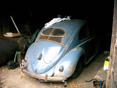 """Vintage and rare """"brezel"""" Beetle found in barn"""