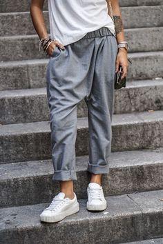 P&D MODEBERATUNG empfiehlt minimal#chic#pantalon gris fluide