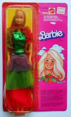 Vintage 1980 Canadian/European Superstar Barbie #7382~In Bright & Bedazzling~HTF #Barbie
