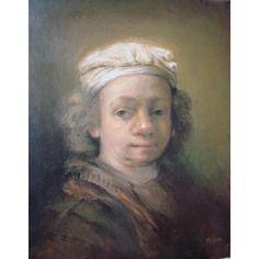 Katarzyna Słowiańska-Kucz, Rembrandt młody Rembrandt, Painting, Art, Art Background, Painting Art, Kunst, Paintings, Performing Arts, Painted Canvas