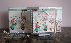 A dimensional card made with Hunkydory's Boutique Chic collection