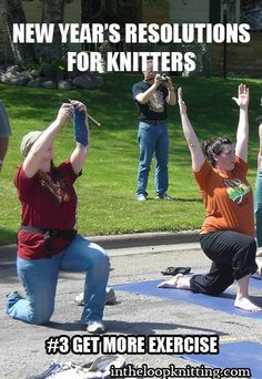 New Year's Resolutions that only knitters will understand…