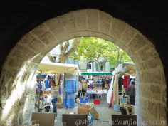 Images of Southern France in Uzes Southern France, Provence France, Shutters, Sunflowers, Earth, Places, Blinds, Shades, Provence