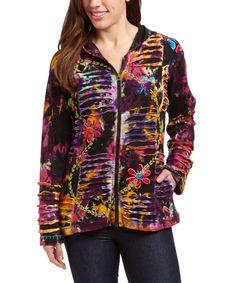 Love this Rising International Purple & Yellow Patchwork Jacket by Rising International on #zulily! #zulilyfinds