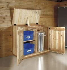 Trash can storage on pinterest storage sheds sheds and - Idee de rangement pour garage ...
