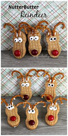 Adorable NutterButter Reindeer!  Super easy and cute!