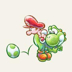 Yoshi used to look a little weird in his original Super Mario World design Super Mario Art, Super Mario World, Super Nintendo, Nintendo 3ds, Desenhos Old School, Marvel Cartoon Movies, Mario And Luigi, Mario Kart, Egg Art