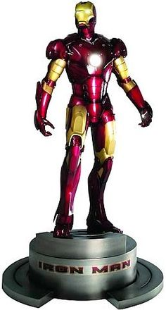 "Marvel Studios Presents: Iron Man Movie - Iron Man Fine Art Statue Kotobukiya by Kotobukiya. $299.99. Kotobukiya's inaugural Marvel Comics merchandise release spotlights the Iron Man feature film with a 1/6th scale (approx. 13"" H). multiple LEDs in the eyes, Repulsor Ray palms, and chest Unibeam.. Stan Winston Studios fabricated the armor from designs by comic artist Adi Granov. cold cast porcelain with metallic paint from Marvel Studios reference. inspired by the film's origin..."