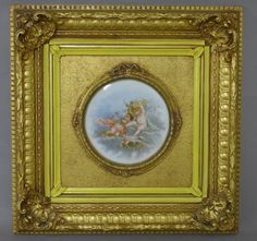Limoges Porcelain Plaque in Gilt Frame : Lot 243