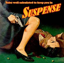 """CBS Radio's """"Suspense"""" is one of the premier drama programs of the Golden Age of Radio. It was subtitled """"radio's outstanding theater of thrills"""" and focused on suspense thriller-type scripts, usually featuring leading Hollywood actors of the era. Approximately 945 episodes were broadcast during its long run, and more than 900 are available today."""