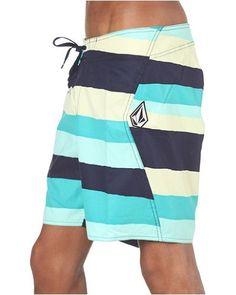 Maguro Stripe 18 Boardshorts aqua