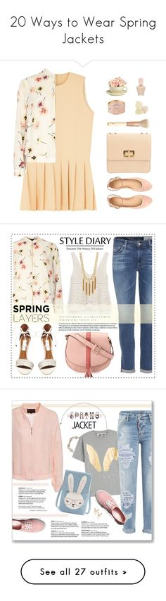 """20 Ways to Wear Spring Jackets"" by polyvore-editorial ❤ liked on Polyvore featuring waystowear, springjacket, Dorothy Perkins, J.Crew, House of Fraser, Too Faced Cosmetics, Paul & Joe, Chloé, H&M and Zara"