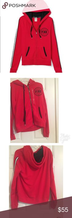 NWT VS Pink Red Limited Edition Hoodie Large NWT Victoria's Secret Pink Red Hoodie PINK Victoria's Secret Tops Sweatshirts & Hoodies