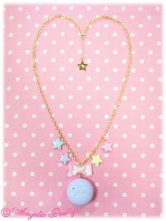 Dream Round Macaron Necklace in Lavender from Angelic Pretty (C condition) - Lolita Desu