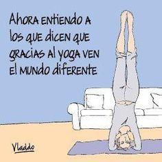 Humor gráfico - El yoga - Aleida