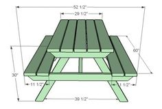 DIY Picnic Table so Danny can make our kitchen table!