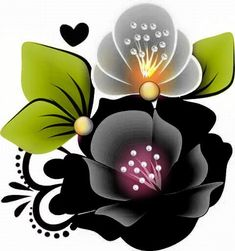 Simple Flower Design, Simple Flowers, Flowers In Hair, Beading Patterns, Flower Patterns, Flower Designs, Cartoon Flowers, Arte Floral, Pictures To Paint