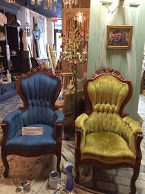 Maison Decor: How to Paint Velvet Chairs with Chalk Paint by Annie Sloan