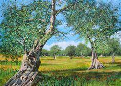 Salviamo gli Ulivi - Acrilico su Tela 70x50cm - 2014 - Save the Olive Trees Acrylic on Canvas 70x50cm - 2014