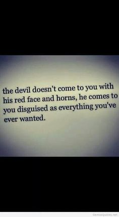 Truth about the devil