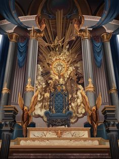 Oringinal Member (Overlord x OPMaleReader) – Chapter/Prologue - Fantasy Book Fantasy City, Fantasy Castle, Fantasy Places, Fantasy World, Dark Fantasy, King On Throne, Throne Room, Throne Chair, Royal Throne