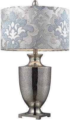 Langham 3 -Way Table Lamp Antique Mercury Glass With Polished Chrome