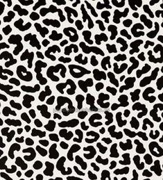 Papel pintado imitación piel de leopardo negro y blanco - 1060170