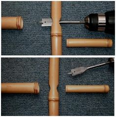 How to join bamboo poles together, using some of the common types of joints.