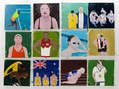 The theatre of sports & Richard Lewer Nz Art, Creators Project, Sports Stars, Oil On Canvas, Theatre, School Projects, Vulnerability, Painting & Drawing, Baseball Cards