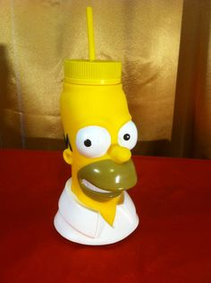 Homer Simpson Universal Studios tumbler with straw , The simpsons