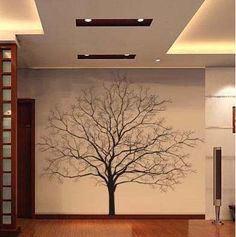 Big Tree Vinyl Wall Decal Nature Art Sticker in Home & Garden, Home Décor, Wall Stickers Family Tree Wall, Tree Wall Art, Tree Art, Vinyl Wall Decals, Wall Stickers, Tree Wall Painting, Bedroom Stickers, Sticker Vinyl, Sticker Ideas