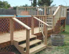 Stunning Decks for Above Ground Pools Space Inside of Home: Wooden Decks For Above Ground Pools ~ stepinit.com Pool