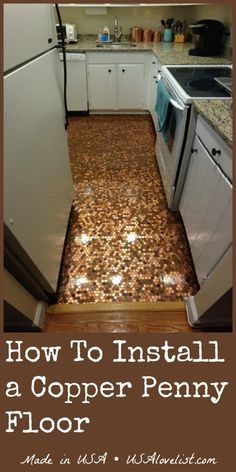 Penny for your project on pinterest pennies floor for How to make a penny wall