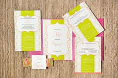 Modern invitation with moroccan influence.