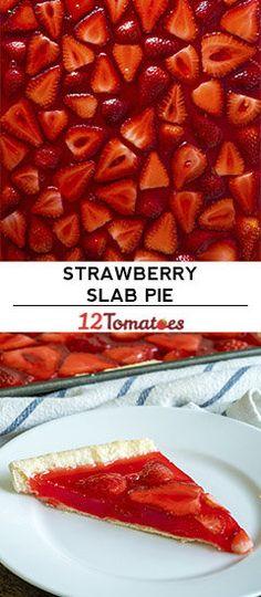Easy Strawberry Slab Pie