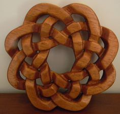 Celtic Knot wood carving