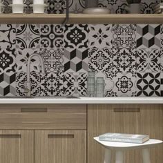 The Louvre range offers a beautiful mix of black and white pattern tiles which are ideal as wall or floor tiles. They can be used in traditional environments to create a Victorian floor design or in modern homes for a splash of pattern in kitchens or bathrooms. These matt, anti slip tiles are made from quality porcelain and can be used either inside or out. They come in a random mix of designs and individual patterns cannot be specified. Black Wall Tiles, Black And White Tiles, Wall And Floor Tiles, Black Walls, White Walls, Kitchen And Hall Tiles, Country Kitchen Tiles, Kitchen Flooring, Modern Large Kitchens
