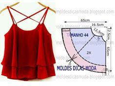 http://moldesdicasmoda.com/blusa-gode-vermelha-96/ attention à la taille