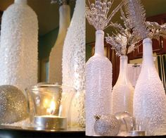 Upcycle used wine bottles to make Christmas decorations or gifts ... you could go with Mardi Gras colors easter or holloween as well