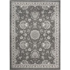 Tayse Rugs Kensington Gray 7 ft. 10 in. x 10 ft. 3 in. Indoor Area Rug-KNS1109 8x10 - The Home Depot