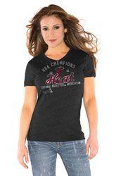 Miami Heat Women's 2012 NBA Finals Champions Tri-Blend V-Neck T-Shirt - by Alyssa Milano $32.99 http://www.fansedge.com/Miami-Heat-Womens-2012-NBA-Finals-Champions-Tri-Blend-V-Neck-T-Shirt---by-Alyssa-Milano-_-478120980_PD.html?social=pinterest_pfid24-03404
