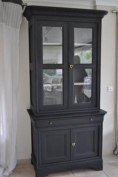 bibliotheque 2 corps noire 1 id es pour la maison pinterest noir meubles et meubles peints. Black Bedroom Furniture Sets. Home Design Ideas