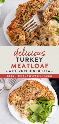 Looking for a healthy weeknight dinner recipes you can meal prep in advance for the whole family? This delicious turkey meatloaf filled with shredded zucchini and feta cheese. This is the perfect recipe to use up the last of summer's zucchini. Organize Yourself Skinny | Healthy Easy Dinner Recipes | Meal Prep Recipes For Families Healthy Low Carb Dinners, Healthy Freezer Meals, Healthy Meals For Two, Healthy Eating Recipes, Keto Recipes, Clean Dinner Recipes, Dinner Recipes Easy Quick, Beef Recipes For Dinner, Turkey Recipes